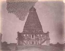 Front view of main sanctuary and tower of the Brihadishvara Temple, Thanjavur